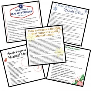 Mental Health Self Help Printables