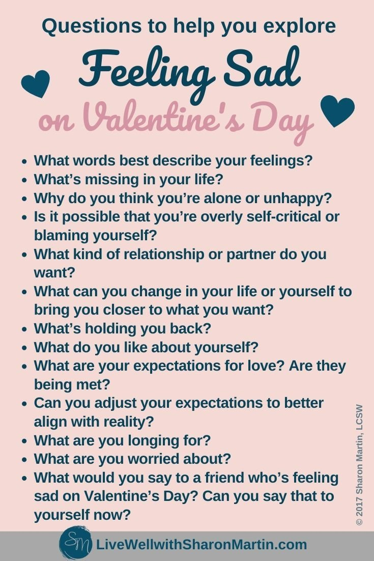 Feeling Sad on Valentine's Day
