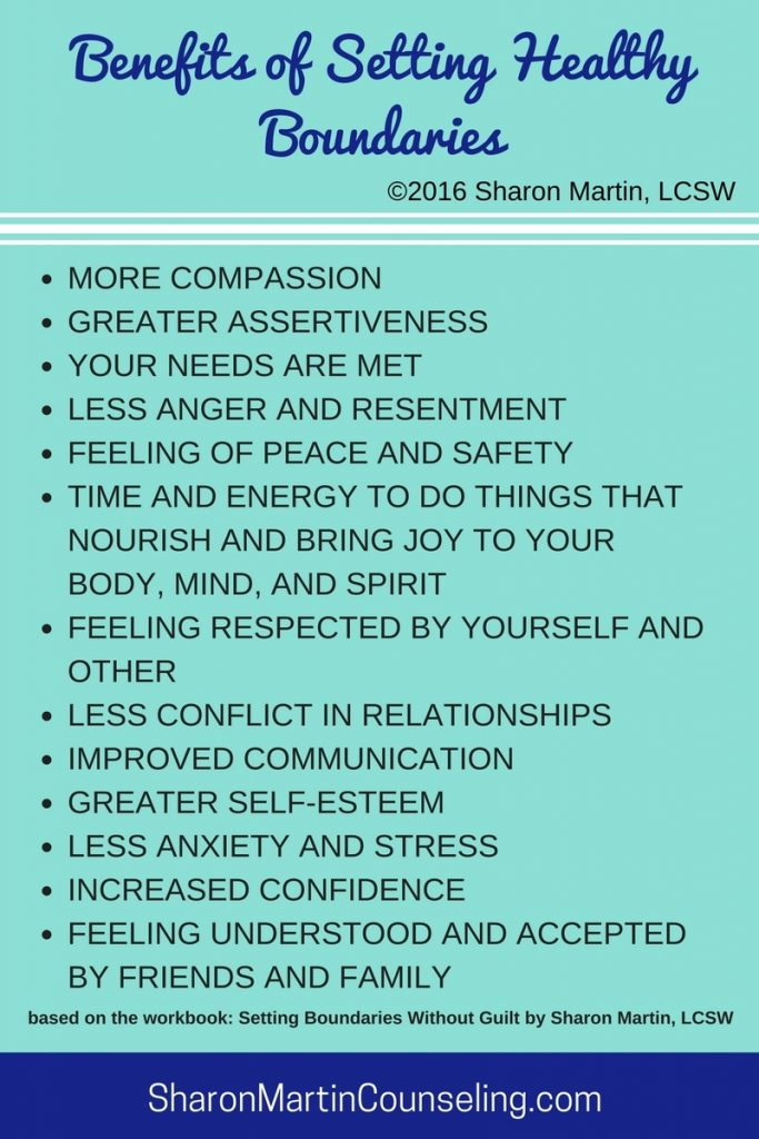 Benefits of Setting Healthy Boundaries by Sharon Martin, LCSW