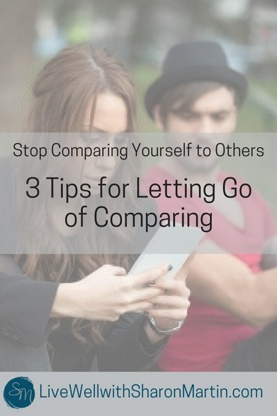 Stop Comparing Yourself to Others. Learn three tips to end comparison and feel good about yourself.