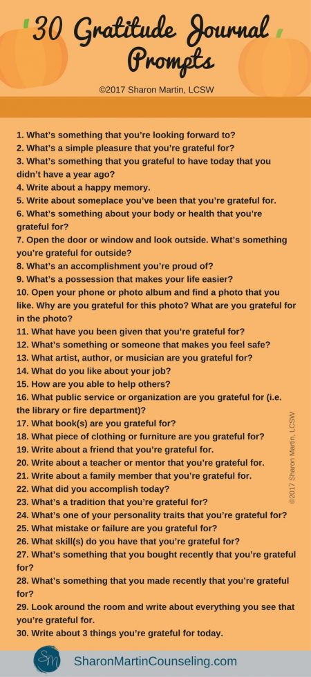 30 Gratitude Journal Prompts. Free gratitude journal ideas.