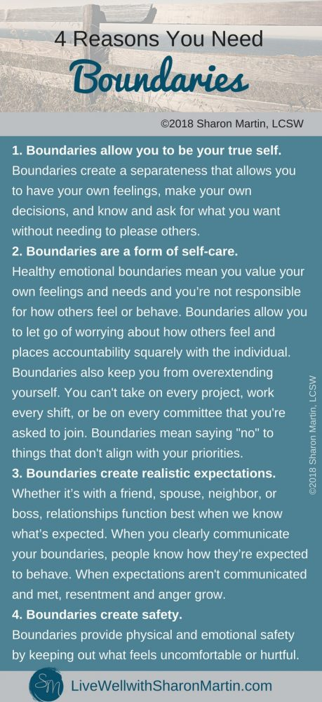 4 Reasons You Need Boundaries