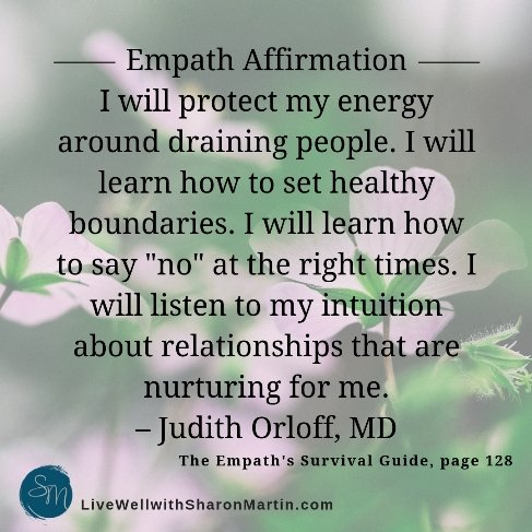 Affirmation for Empaths or Mantra for HSP #highlysensitive #HSP #mantra #affirmation #orloff #empath