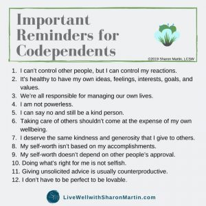 Change your codependent thoughts