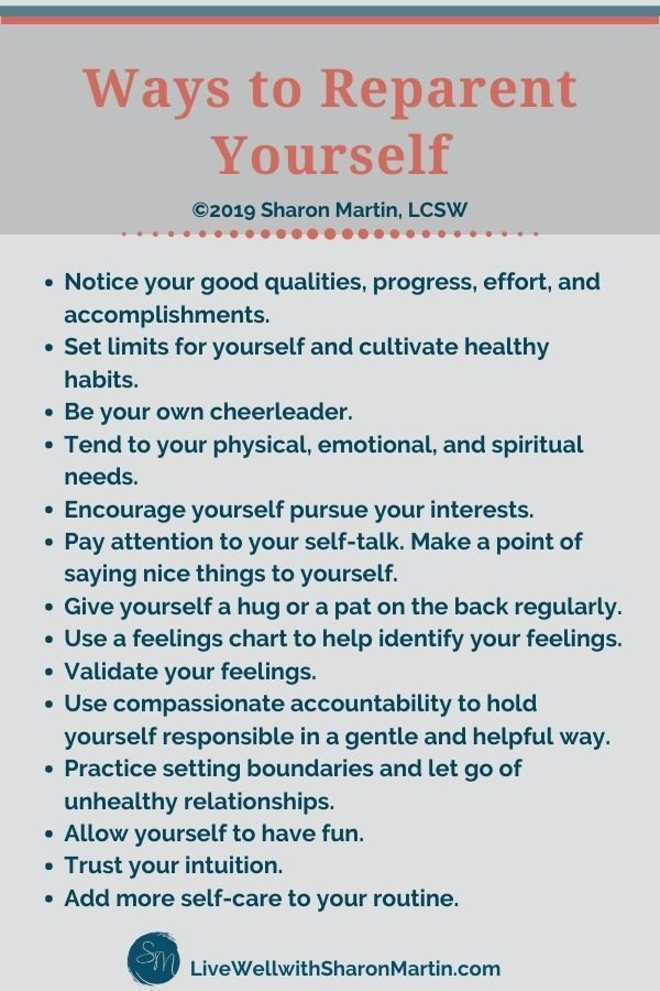 Ways to reparent yourself