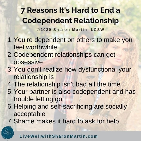7 Reasons it's hard to end a codependent relationship