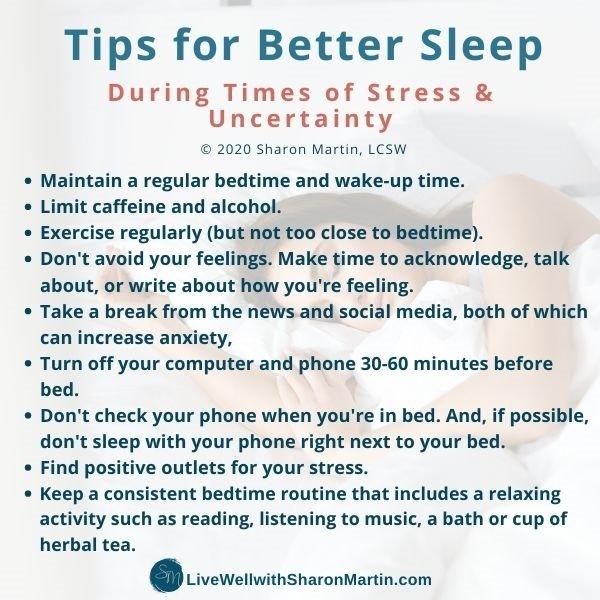 Tips for Better Sleep Insomnia during coronavirus and stress