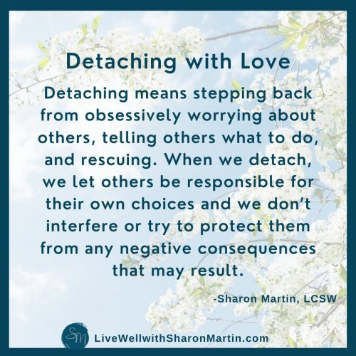 what is detaching with love
