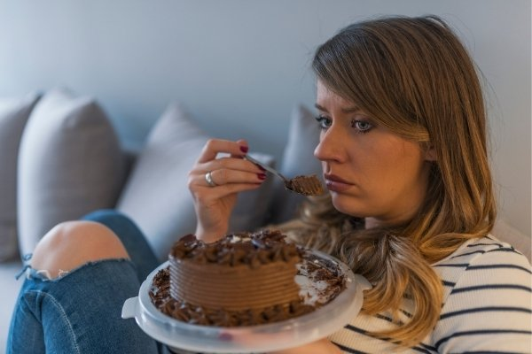 Numbing our feelings with food is a common form of self-abandonment.