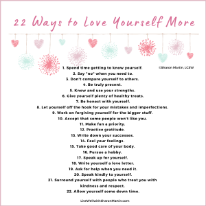 22 Ways to Love Yourself More