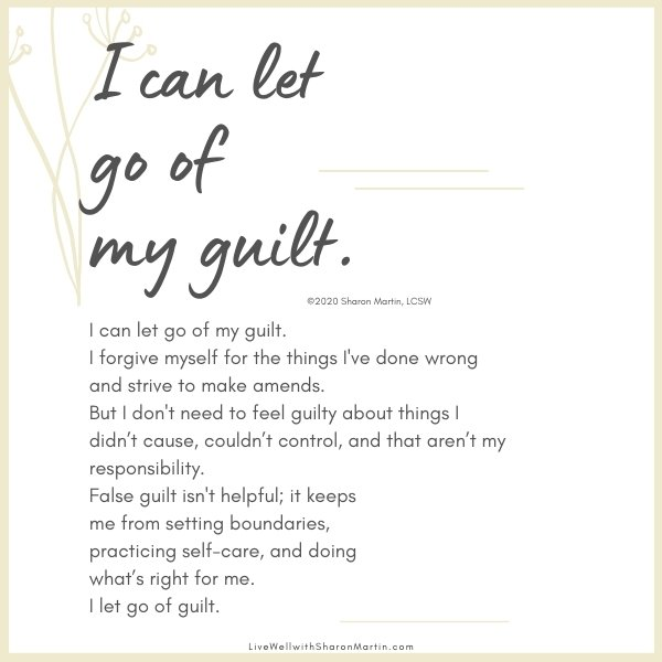 How to let go of guilt